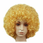 US Disco Afro Curly Wig Circus Fancy Dress Clown Hair Football Fan Cosplay Party