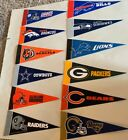 "NFL Football Teams Mini Pennants Pick Your Team 4""x9"" Rico"