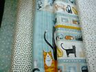 YOU HAD ME AT MEOW - CAT THEMED FABRICS & PANEL 100% COTTON PATCHWORK FABRIC