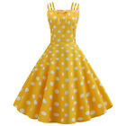 Womens 50S 60S ROCKABILLY Style Swing Pinup Retro Vintage Housewife Party Dress