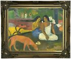 Gauguin Joyfulness 1892 Wood Framed Canvas Print Repro 11x14