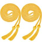 2pcs Honor Graduation Robe Cords Tassels Baccalaureate Gown Trencher Cap Acc Hot