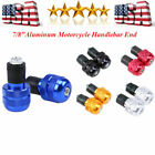 "7/8"" Motorcycle Handlebar Bar End Plug Caps Cover for Harley Yamaha Suzuki Honda"
