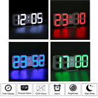 Modern Digital Led Snooze Table Wall Clock Timer 24/12Hr 3D Dimmable Night Mode
