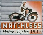 Decor PosterHome interior designRoom wall print1939 Matchless motorcycle6840