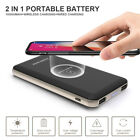 300000mAh Power Bank Qi Wireless Charging USB LCD LED Portable Battery Charger