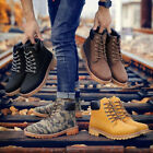 Men Winter Soft Boots Thicken Snow Boot Casual High Top Lace Up Flat Warm Soft