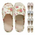 House Indoor Slippers Home Winter Warm Linen Plaid Shoes Sandals Anti-Slip Hot