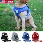 Dog Harness Lead Leash Mesh Vest Padded Travel Seat Belt For Small to Medium Dog