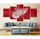USA SELLER! Back/Framed Canvas Print Spray Painting Detroit Red Wings 5 Pc $69.72 USD on eBay