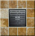 SereneDrains Square Shower Drain 6 Inch Stainless Steel Broken Lane 4 Colors