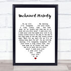 Unchained Melody Quote Song Lyric Heart Print