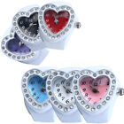 Lovely Lady Girl Silicon Heart-shaped Elastic Quartz Finger Ring Watch Gift Hot image