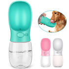 Portable Pet Dog Cat Water Bottle Dispenser Drinking Tray Bowl Travel Feeder