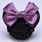 Women Bowknot Bun Snood Bow Barrette Lady Hair Clip Cover Women Hair Accessories