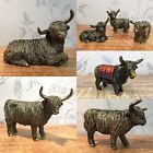 Bronzed Effect Highland Cow Decorative Home Ornament - Range Of Styles & Sizes