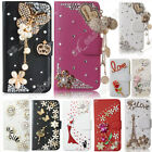 Fancy Bling Rhinestone Wallet Flip Leather Case Cover Protective For LG Phone segunda mano  Embacar hacia Mexico