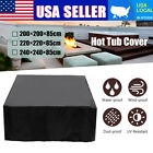 SPA Hot Tub Cover Cap Anti-UV Heat-resistant Protector With Spring Stoppers US