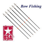 "Bow Fishing Arrow Fiberglass Solid Arrows 32"" Bowfishing w/ Broadhead Stopper BK"