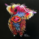 HIGHLAND COW PRINT ART of Original SCOTTISH Painting BLooM by SHIRLEY MACARTHUR