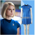 Star Trek Into Darkness Women Dress Fleet Uhura  Blue  Uniform Cosplay Costume on eBay