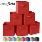 6 Collapsible Foldable Cloth Fabric Cubby Cube Storage Bins Baskets for Shelves