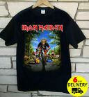Iron Maiden Tour De France 2018 T-Shirt Rare Black Gildan Size S-3XL image