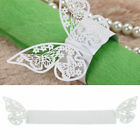 50pcs Napkin Butterfly Heart Ring Paper Holder Table Bridal-Partyations New