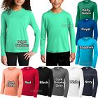 Youth Long Sleeve Fishing T-Shirt UPF 50 UV Moisture Wicking Kids Boy Girl XS-XL