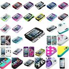 Stylish TUFF Hybrid Phone Hard Case For Apple ipod touch 5th 6+Screen Protector