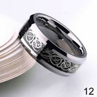 UK 2016 Men's Silver Celtic Dragon Titanium Stainless Steel Wedding Rings JJ 46