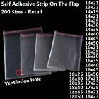 Plastic Bags Packaging Pouch Transparent Self Adhesive With Ventilation Hole Bag
