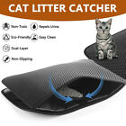 B12E Black/Grey Cat Litter Pad Nonslip Protect Floor Double Layer