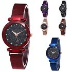 Women Sky Starry Wrist Watch Diamond Magnet Starry Stainless Steel Strap Band US image