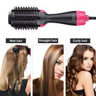 2 in1 Hair Dryer Hair Dryer and Volumizer Brush Straightening Curling Iron CombE