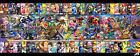 Super Smash Bros All Characters Art Fabric HD Print Poster Wall Decor Multi Size
