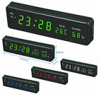 Electronic LED Digital Wall Clock With Temperature Humidity Display Clock USA ##