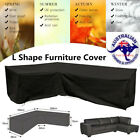 L Shape Corner Outdoor Sofa Rattan Patio Garden Waterproof Furniture Cover Ak
