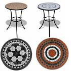 4 Colour Mosaic Garden Coffee Table Pub Patio Dining Table  Ceramic Table Top UK