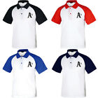 KH1001 New Oakland Athletic Raglan Polo T-Shirt Baseball Collar Tee Uniform 0111 on Ebay