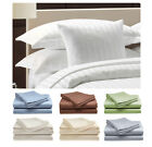 Deluxe Hotel , 400 Thread Count 100% Cotton Sateen Dobby Stripe Bed Sheet Set  image