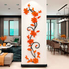 3D Acrylic Rose Flowers Wall Stickers Decal Living Room Bedroom Home Decal Decor