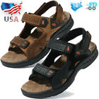 Mens Summer Sport Open Toe Water Sandals Outdoor Leather Casual Hiking Shoes USA