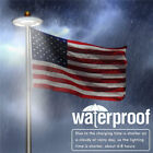 NEW Solar Powered 42 LED Flag Pole Light Night Super Bright Flagpole Waterproof