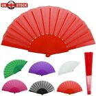 Spanish Fabric Folding Hand Held Fans Portable Fans Dances Fan Party Wedding UK