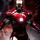 Avengers Iron Man Art Fabric Poster Wall Decor HD Printed Oil Painting Multisize