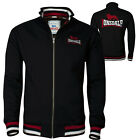 Lonsdale DOVER Black Zip Jacket Sweatshirt Embroidered Back Logo Regular Fit