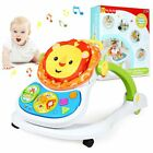 4+1Baby Walker First Steps Bouncer Toys Car Ride On Go+Musicial Play Push Walker