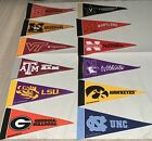 "NCAA College Mini Pennants Pick Your Team 4""x9"" Rico ACC Big 10 Big 12 SEC Mix"
