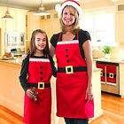 Unisex Kids Christmas Santa Claus Apron Kitchen Bar Home Cooking Xmas Party Gift